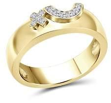 Love and Pride 14K Yellow Gold Diamond Raised Female Insignia Ring
