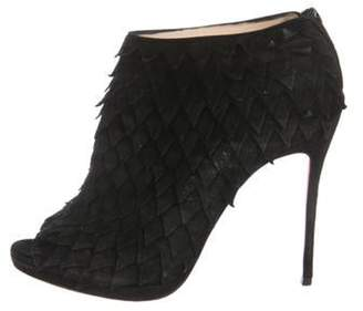 Christian Louboutin Suede Ankle Booties Black Suede Ankle Booties