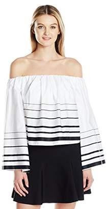 KENDALL + KYLIE Women's Printed Off-Shoulder Top