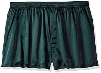 Intimo Men's Classic Silk Boxers - Big & Tall, Forest