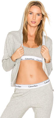 Calvin Klein Underwear Modern Cotton Hoodie in Gray $72 thestylecure.com