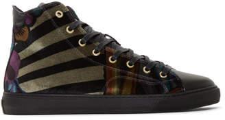 Paul Smith Multicolor Velvet Sirius High-Top Sneakers