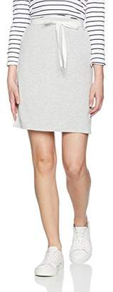 Bench Women's Draw Cord Tunnel Straight Skirt (Summer Grey Marl MA26), (Size: Small)