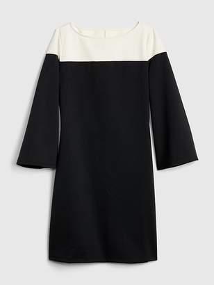 Gap Long Sleeve Colorblock Shift Dress in Ponte