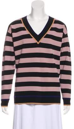 Diane von Furstenberg Striped V-Neck Sweater