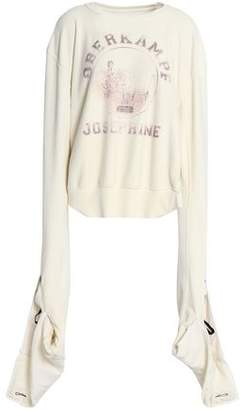 Maison Margiela Gathered Printed Cotton-Terry Sweatshirt