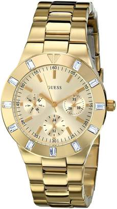 GUESS Women's U11058L1 Crystal-Accented -Tone Watch