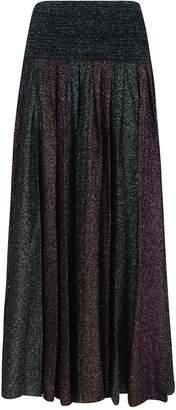 Circus Hotel Lurex Pleated Skirt