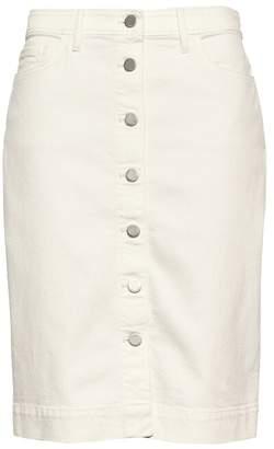 Banana Republic Petite Button-Front Denim Skirt