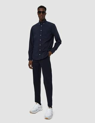 Gitman Brothers Ripstop Button Down Shirt in Navy