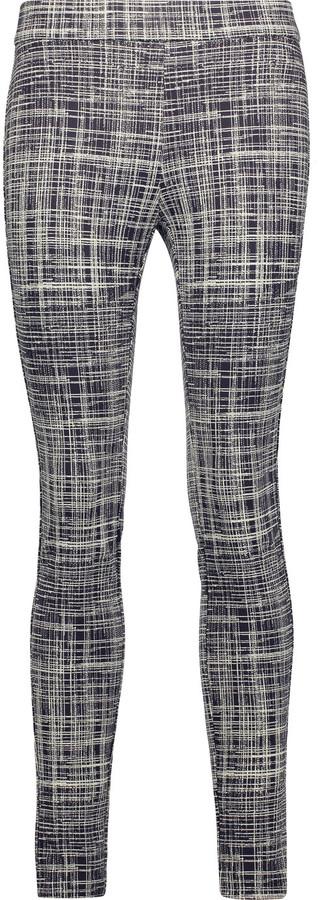 TheoryTheory Adbelle printed stretch-twill leggings