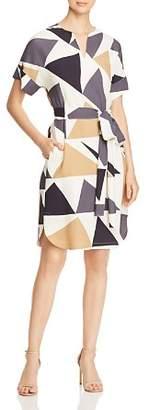 Lafayette 148 New York Jubilee Geometric-Print Dress
