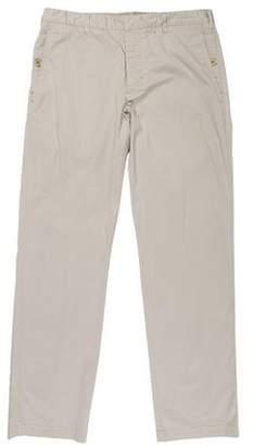 Prada Sport Flat Front Straight-Leg Pants