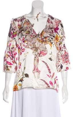 Just Cavalli Silk Short Sleeve Top