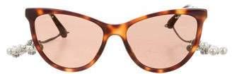 Chanel 2017 CC Cat-Eye Sunglasses w/ Tags