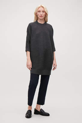 Cos VOLUMINOUS WOOL RIB-KNIT DRESS