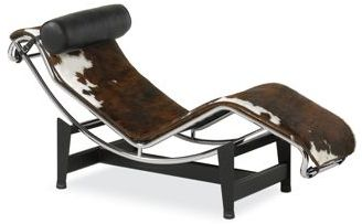 Pierre Chaise Lounge in Natural Cowhide