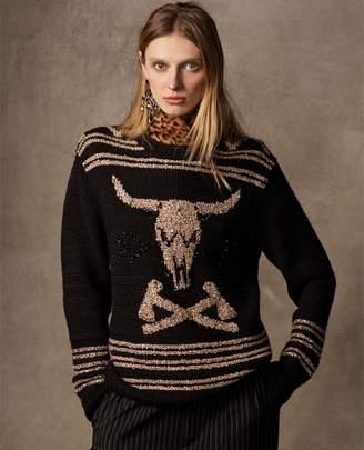 Ralph Lauren Embroidered Steer-Head Sweater