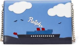 Ralph Lauren Steamboat Calfskin Zip Wallet