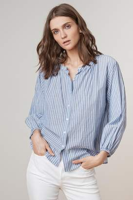 Velvet by Graham & Spencer KIMO PINSTRIPE BUTTON UP SHIRT