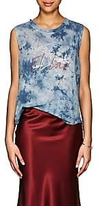 "Raquel Allegra Women's ""El Lay"" Tie-Dyed Cotton Tank - Blue"