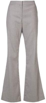 Prabal Gurung plaid flared trousers