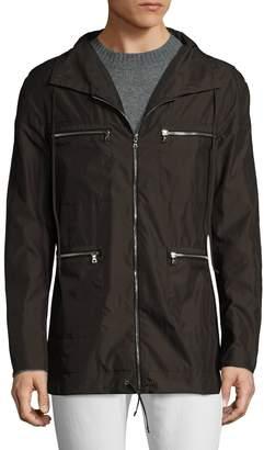 Miguel Antoinne Men's Spread Collar Rain Jacket