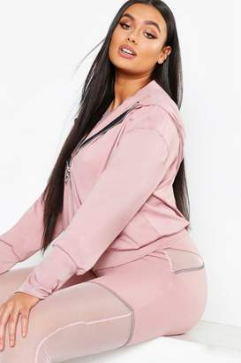 boohoo Plus Fit Premium Hooded Jacket