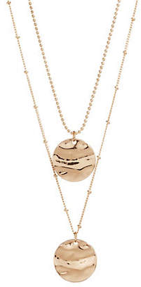 Lord & Taylor DESIGN LAB Hammered Pendant Necklace