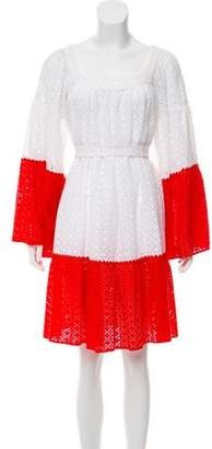Lisa Marie Fernandez Colorblock Eyelet Dress