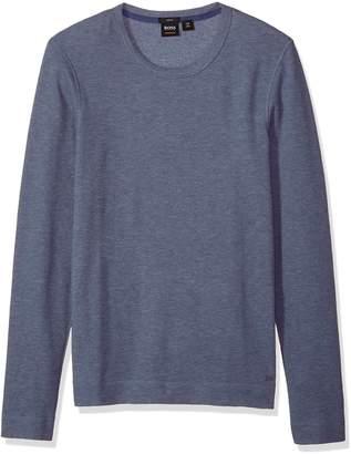 HUGO BOSS BOSS Orange Men's Tempest Long Sleeve Shirt with Pima Heather Yarn