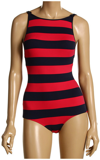 DKNY - Deck Stripe Boat Neck Maillot One Piece