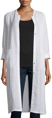 Eileen Fisher CLSSC MINI MNDRN LONG JACKET $248 thestylecure.com
