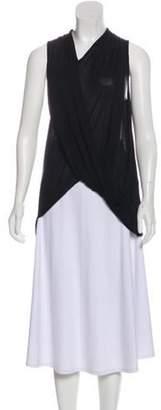 Helmut Lang Sleeveless Asymmetrical Top Black Sleeveless Asymmetrical Top