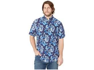 Polo Ralph Lauren Big Tall Printed Oxford Short Sleeve Classic Fit Sport Shirt