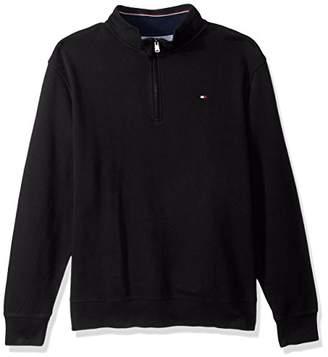Tommy Hilfiger Men's Big & Tall Mock Quarter Zip Sweater