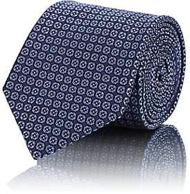 Brioni Men's Dot Silk Jacquard Necktie - Purple