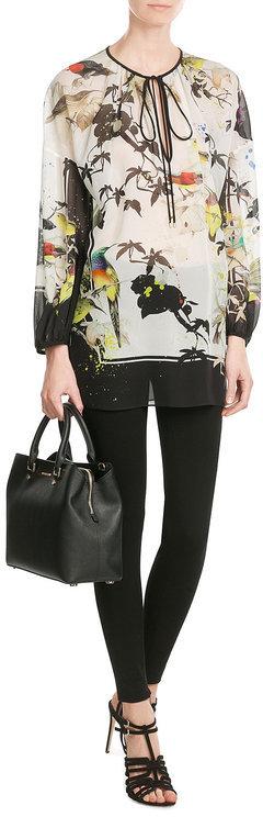 Roberto CavalliRoberto Cavalli Printed Silk Tunic Blouse