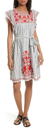 Women's Kate Spade New York Embroidered Babydoll Dress $298 thestylecure.com