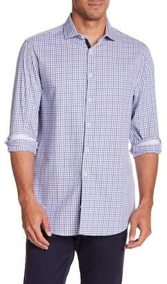 Michelson's Plaid Long Sleeve Slim Fit Shirt