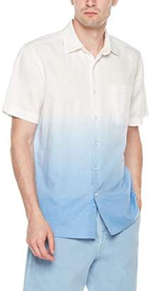 Isle Bay Linens Men's Standard Fit Dip Dye Short Sleeve Shirt