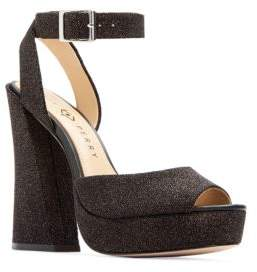 Katy Perry Maggie Embossed Block-Heel Sandals