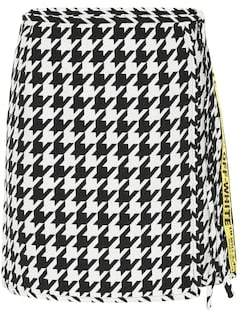 Off-White Houndstooth wool-blend miniskirt