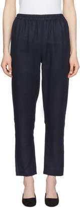 Mansur Gavriel Navy Linen Trousers