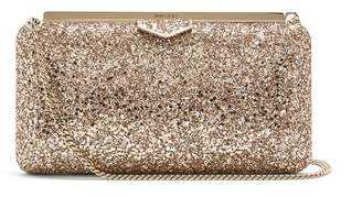 Jimmy Choo Ellipse Glitter Clutch Bag - Womens - Nude Multi