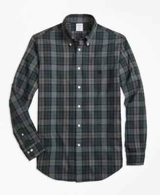 Brooks Brothers Regent Fit Yarn-Dyed Oxford Plaid Sport Shirt