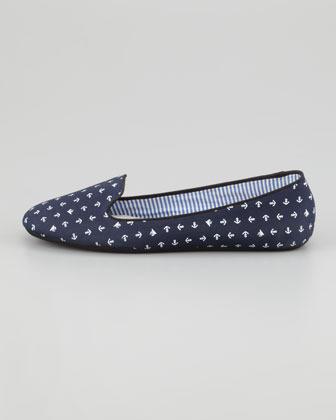 Tropez Charles Phillip Shanghai Anchor-Print Slip-On Loafer