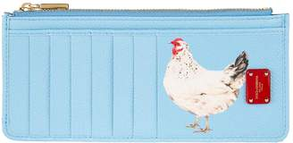 Dolce & Gabbana Rooster Slogan Card Wallet
