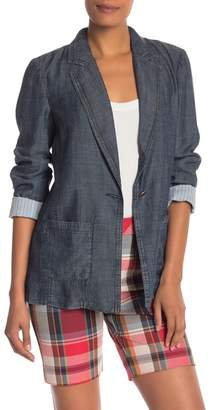 Trina Turk Alexsia Striped Cuff Chambray Jacket