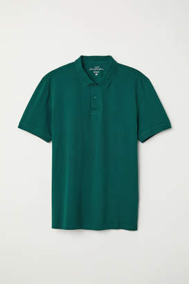 H&M Short-sleeved Polo Shirt - Green